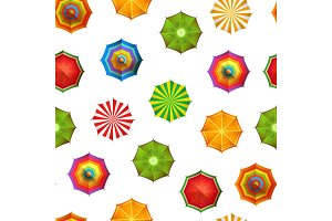 Vector summer beach umbrellas