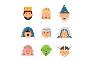 Fairytale avatars collection