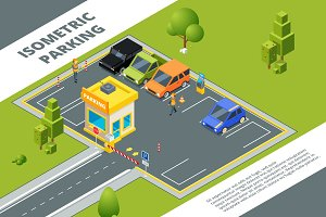 Isometric illustrations of urban