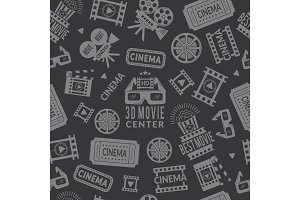 Cinema pattern. Seamless background