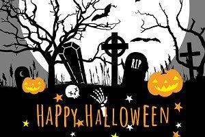 Vector Halloween Set
