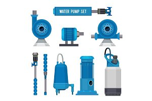 Water pumps. Industrial machinery
