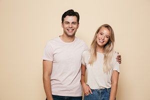 Portrait of a smiling young couple s