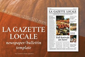 Gazette locale bulletin template