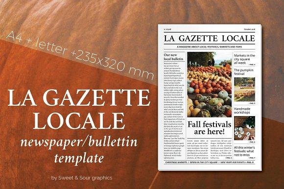 gazette locale bulletin template magazine templates creative market