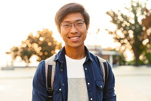 Picture of Joyful asian male student