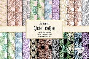 Glitter Dahlia Digital Paper