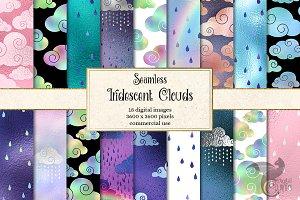 Iridescent Clouds Digital Paper