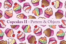 Cupcakes II - Pattern & Objects