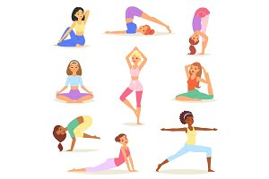 Yoga woman vector young women yogi