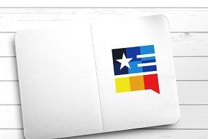 American Flag Chat Box Icon
