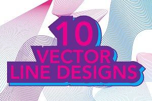 10 Vector Line Designs