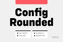 Config Rounded Font Family by  in Sans Serif Fonts