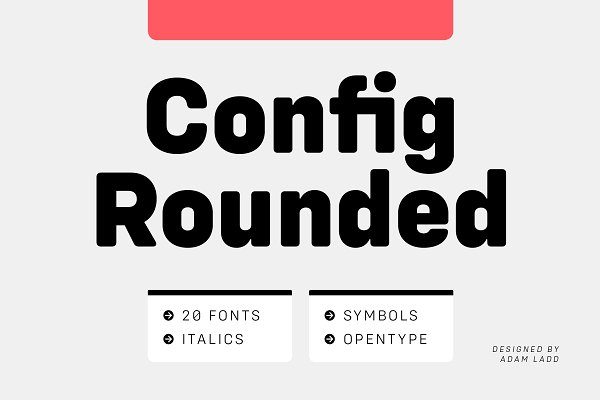 Sans Serif Fonts: Adam Ladd - Config Rounded Font Family