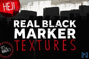 REAL BLACK MARKER TEXTURES