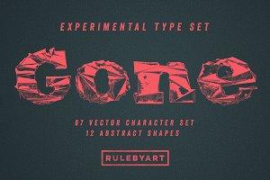 Gone - Experimental Type Set