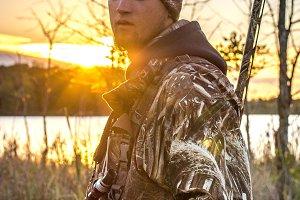 Duck Hunter at Sunrise