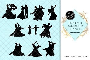 Foxtrot Ballroom Dance Silhouette