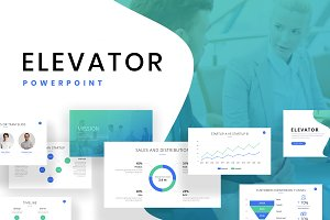 Elevator Startup Powerpoint Template