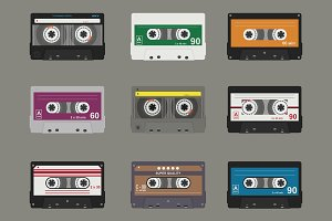 Audio cassette. Flat tapes