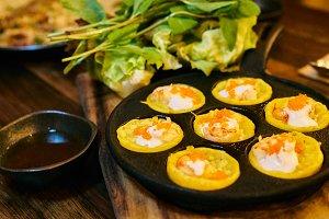 Vietnamese Banh Khot little crispy p