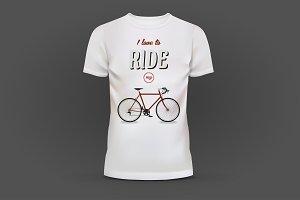 white T-shirt mockups