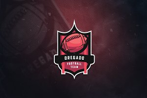 Oregado Football Team Sports Logo