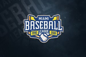 Miami Baseball Sports Logo