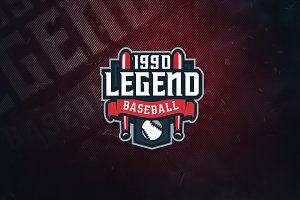 Legend Baseball Sports Logo