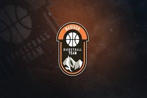 Madioen Basketball Team Sports Logo