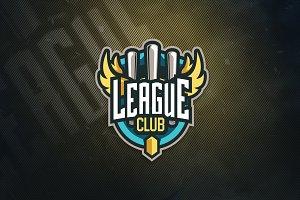 League Club Sports Logo