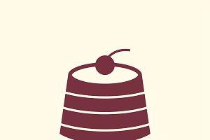 Dessert cafe icon graphic vector