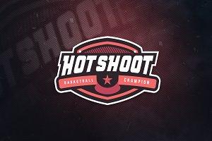 Hotshoot Basketball Sports Logo