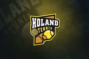 Holand Tennis Sports Logo