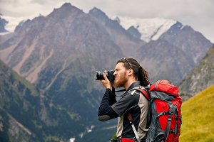 Photographer in adventure