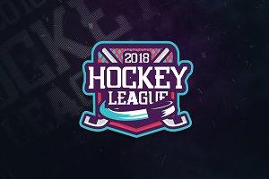 Hockey Team V5 Sports Logo