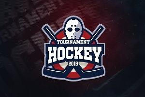 Hockey Team V4 Sports Logo