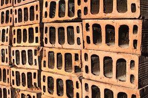 Stacked bricks background