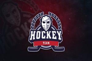 Hockey Team V2 Sports Logo