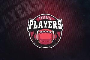 Football Players Sports Logo