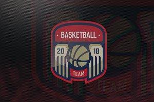 Basketball Team E-Sports Logo