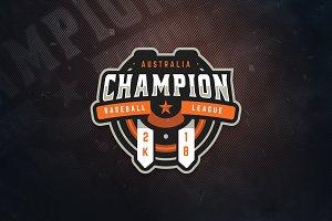 Champion Baseball E-Sports Logo
