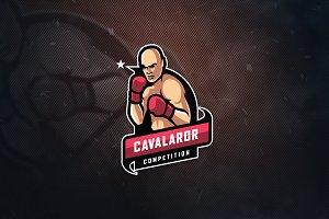 Boxing Tournament E-Sports Logo