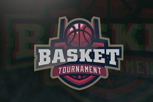 Basketball Tournament E-Sports Logo