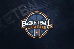 Basketball League E-Sports Logo