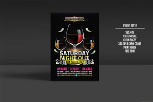 Saturday Nightout Party Flyer