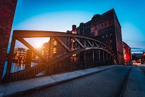 Poggenmuehlen Bridge at dawn
