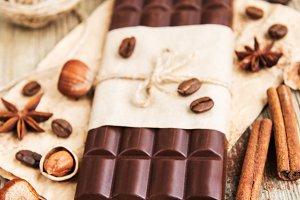 Chocolate and nuts
