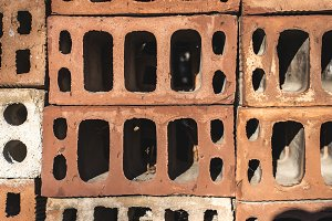 Stacked bricks background