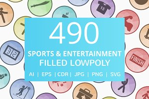 490 Sports & Entertainment Icons